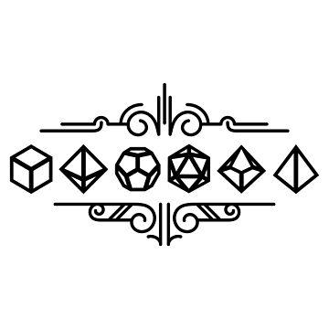Dice Set Minimalist Ornament Tabletop RPG Addict by pixeptional