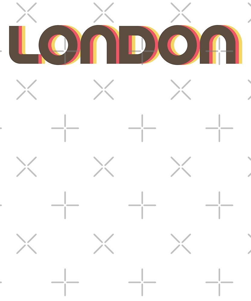Retro London T-Shirt by designkitsch