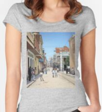 Old San Juan, Puerto Rico ca 1900 Women's Fitted Scoop T-Shirt