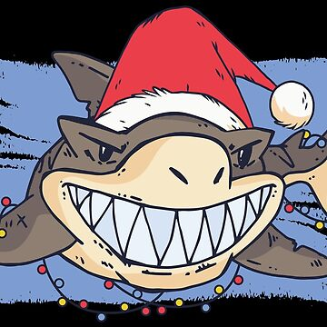 Cute Christmas Shark by lifestyleswag