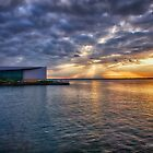 Sunset on the Bayfront - Erie, PA by Kathy Weaver