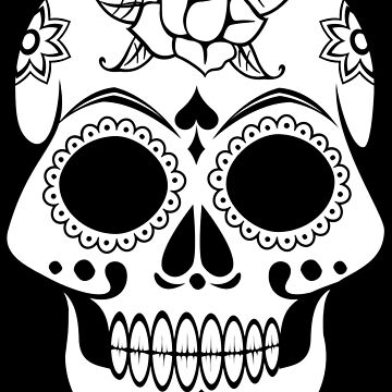 Day of the dead skull with mandalas  by DinksiStyle