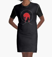 David Bowie Tribute Graphic T-Shirt Dress