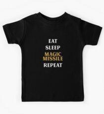 Eat Sleep Magic Missile Repeat Tabletop RPG Süchtiger Kinder T-Shirt