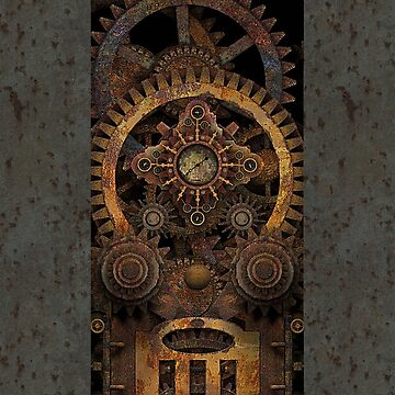 Infernal Vintage Steampunk Machine #2 Phone Cases by SC001