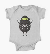 Ninjacado im Feiertagsstrickjacke Baby Body Kurzarm