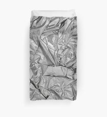 rumpled silver Duvet Cover