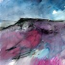 Purple Moor - Peak District Landscape painting by Sian Vernon