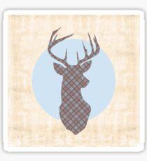 Scottish Tartan Highland Stag Sticker