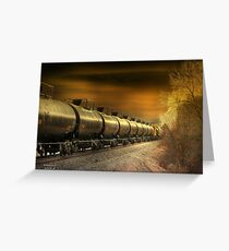 """ Mirrored Tanker "" Greeting Card"