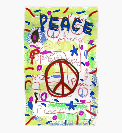 Galaxy Peace Poster