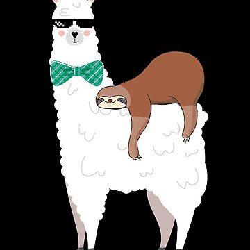 Llama And Sloth by edgyshop