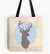 Scottish Tartan Highland Stag Tote Bag