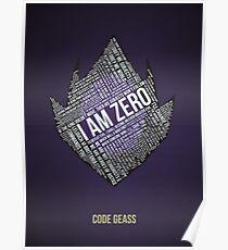 Code GEASS Typography Poster