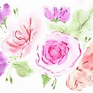 Soft Watercolour Florals by SallyJTaylor