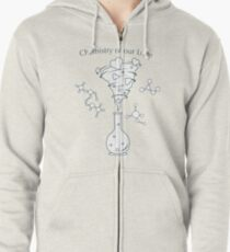 Flask, hearts tornado, love message. Feeling, mood Zipped Hoodie