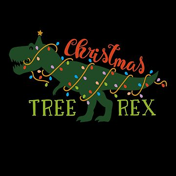Tree Rex - Christmas Shirt for Boys Kids Dinosaur T-Rex Gift Christmas Tree Pajama Men by MrTStyle