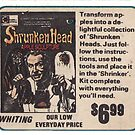 Shrunken Head Apple Sculpture Kit by Whiting 1970s by PlaidStallions