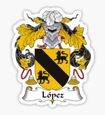 Lopez Coat of Arms - Family Crest Shirt Sticker