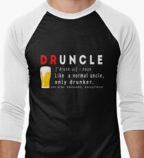 Druncle Beer Funny Gift T-shirt  Men's Baseball ¾ T-Shirt