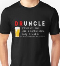 Druncle Beer Lustiges Geschenk T-Shirt Slim Fit T-Shirt