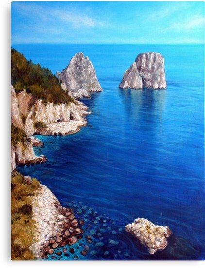 Faraglioni - Capri Island by Carole Russell
