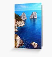 Faraglioni - Capri Island Greeting Card