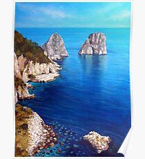 Faraglioni - Capri Island Poster