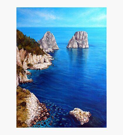 Faraglioni - Capri Island Photographic Print