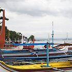 Colourful leisure boats on the beach.  by ccrcats