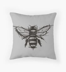 Sketchy Bee Throw Pillow