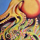 Psychedelic octopus by federico cortese