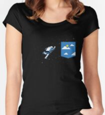 Space Pocket Women's Fitted Scoop T-Shirt
