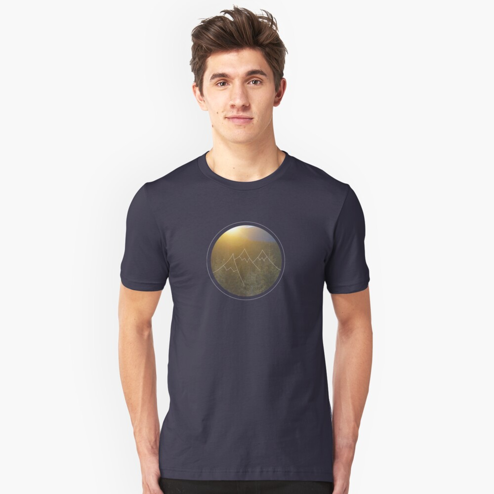 Mountain sunrise in Winter Unisex T-Shirt Front