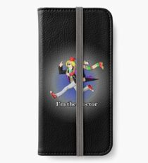 I'm the Doctor! (with blue background) iPhone Wallet/Case/Skin