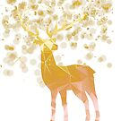 Reindeer Christmas Gold Vector Graphic by lucykateburton
