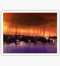 San Diego Harbor Midnight Moon Sticker