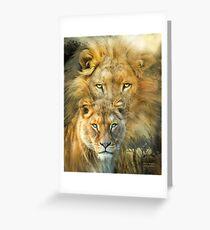 Tarjeta de felicitación Lion And Lioness - African Royalty