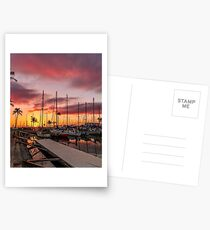 Tropical Sunset and Romantic Boardwalk Postcards