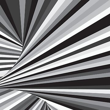 Black And White Stripe In Dynamic Motion  by CroDesign