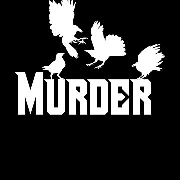 Reading Classic Literature Book Lover Authors Murder of Ravens Crows White by zot717