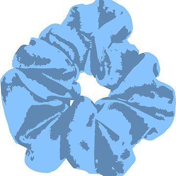 Blue Scrunchie by FancyDancyNancy