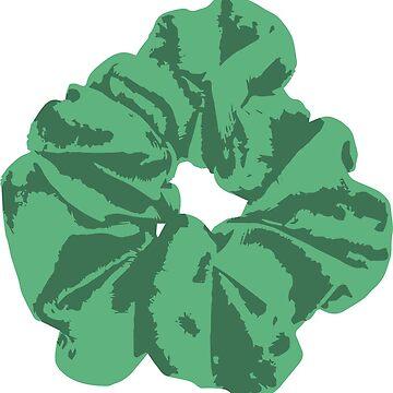 Green Scrunchie by FancyDancyNancy