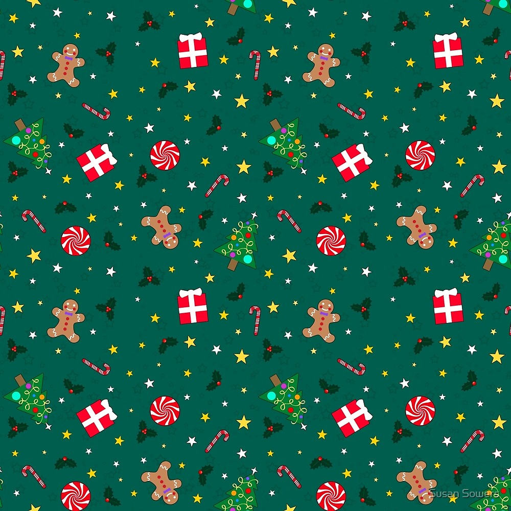 Christmas Holidays - Green by Susan Sowers