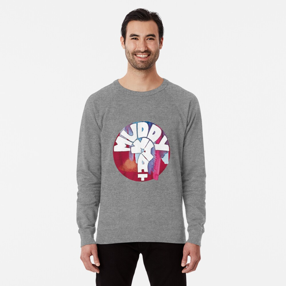 MUDDY WHAT? Logo Aquarell Leichtes Sweatshirt