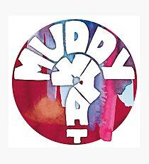 MUDDY WHAT? Logo Aquarell Fotodruck