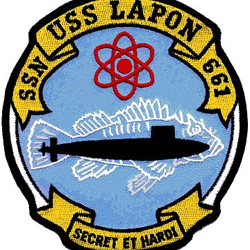 USS Lapon SSN 661 Crest by Spacestuffplus