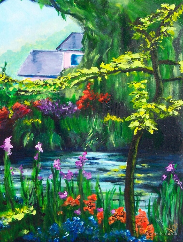 Monet's Muse (acrylic) by Niki Hilsabeck