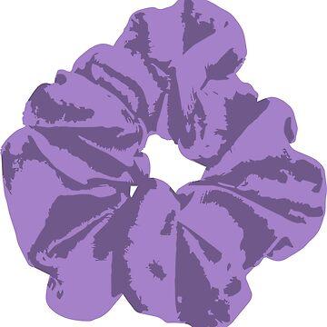 purple scrunchie by FancyDancyNancy