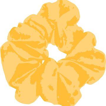 Yellow Scrunchie by FancyDancyNancy